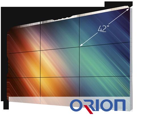 Видеостена из 9-ти дисплеев Orion 42